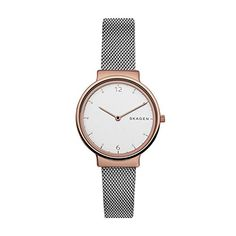 Skagen SKW2616 Ladies watch Ancher - This attractive ladies Skagen Ancher watch has a two-tone steel and rose plate case and is fitted with a quartz movement. It is fastened with a silver metal bracelet and has a off white dial.