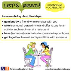 Let's Read! Friendship Vocabulary - Definitions