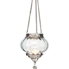Temara Design Hanging Glass Moroccan Lanterns (3.5 X 4 Inches, Plus... ($13) ❤ liked on Polyvore featuring home, home decor, candles & candleholders, moroccan lantern, cultural intrigue, handmade home decor, glass lantern and moroccan home decor