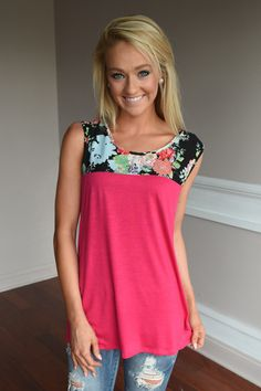 Summer Picnic Tank ~ Pink – The Pulse Boutique
