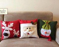 trio-de-almofadas-natal-almofadas-natal #NavidadDIY