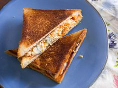 Blue cheese, shredded chicken, and Frank's RedHot are straddled by two melted layers of Monterey Jack—all the spicy, meaty, funky, cheesy flavors of a bar food classic, translated into the ultimate comfort food.