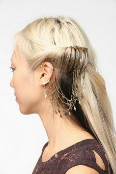 Geometric Comb Cuff Earring
