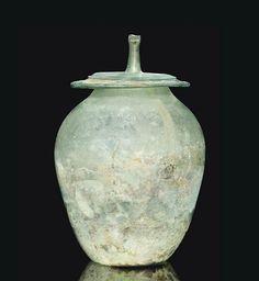 Roman Green Glass Cinerary Urn, circa Century A. Antique Glassware, Antique Bottles, Vintage Bottles, Vintage Perfume, Glass Ceramic, Ceramic Pottery, Ceramic Art, Art Of Glass, Roman Art