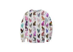 Bluza damska Bluza w Komiksowe Koty, od projektanta Mr. Gugu & Miss Go | Mustache.pl