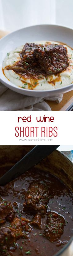 RED WINE SHORT RIBS... Tender, juicy, and crazy amazing!