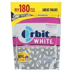 Orbit White Bubblemint Sugar-Free Gum 180 ct