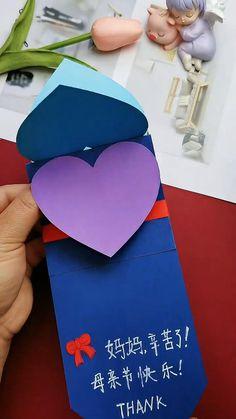 Cool Paper Crafts, Paper Crafts Origami, Diy Crafts Hacks, Diy Crafts For Gifts, Diy Arts And Crafts, Diy Craft Projects, Creative Crafts, Fun Crafts, Paper Folding Crafts