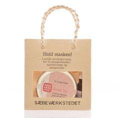 Sæbeværkstedet gaveposer hold masken rosa leire - Ren Lykke Paper Shopping Bag, Pink, Nature