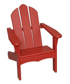 Take a look at this Red Personlized Adirondack Chair by Little Colorado on #zulily today!