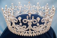 """Daughters of Ireland and Britain Full Rhinestone Crown ~ A style """"take off,"""" or a recreation of, the Girls of Great Britain and Ireland tiara that is Queen Elizabeth's favorite, and was Queen Mary's also! Queen Elizabeth calls it """"Granny's Favorite. Royal Crowns, Royal Tiaras, Tiaras And Crowns, Pageant Crowns, Queen Crown, Royal Jewelry, Circlet, Crown Jewels, Diamond Are A Girls Best Friend"""