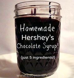 How to Make Homemade Hersheys Chocolate Syrup from Scratch #tutorial