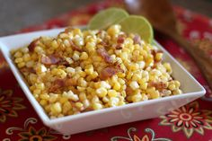 Southwestern Corn Skillet with Chile and Lime recipe by Barefeet In The Kitchen - Bacon is not optional...