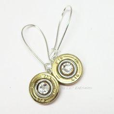 $24   Winchester 410 Gauge Recycled Shotgun Shell Bullet Earrings | bulletdesigns - Jewelry on ArtFire