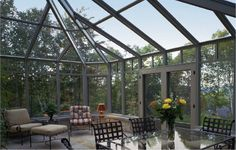 how cool would this sunroom be?