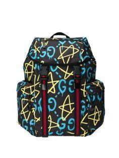5187fa0c8e4c GUCCI Stars Canvas Backpack. グッチ(メンズ), Gucciのバッグ, キャンバスの
