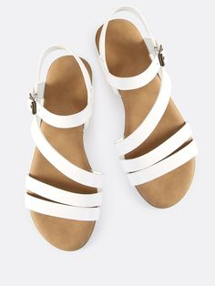 Shop Multi Strap Open Toe Sandals WHITE online. SheIn offers Multi Strap Open Toe Sandals WHITE & more to fit your fashionable needs.