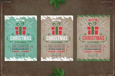 Christmas retro flyer template By dvr