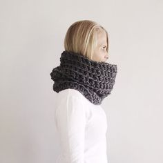 Chunky Grey Cowl, SUPER Chunky infinity scarf, Natural  cowl, snood, Fall, Winter, Ready to ship, handmade  by VeraJayne Chunky Infinity Scarves, Cowl, Fall Winter, Handmade Items, Knitting, Grey, Crochet, Ship, Natural