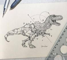 Wild Animals Intricate Drawings Fused With Geometric Shapes