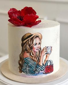 Beautiful Cake Designs, Beautiful Cakes, Amazing Cakes, Cake Painting Tutorial, Pregnant Cake, Bithday Cake, Cake Decorating With Fondant, Beautiful Birthday Cakes, Fantasy Cake