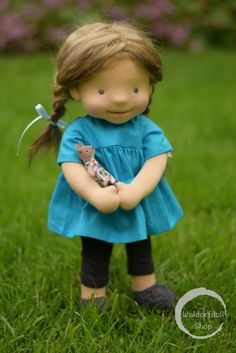 "Charlotte, 15"" Natural Fibre Art Doll, OOAK, by Waldorfdollshop"