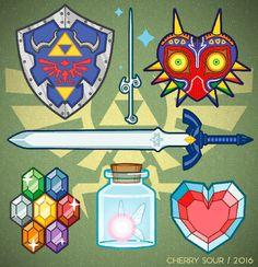 Legend of Zelda Weapons & Artifacts Princesa Zelda, Legend Of Zelda Breath, The Legend Of Zelda, Legend Of Zelda Tattoos, Zelda Birthday, Pokemon, Link Zelda, Wind Waker, Star Citizen