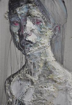 Gaetano Costa Testa di donna - 70x100 poliuretano ed acrilico su tela  polyurethane and acrylic on canvas