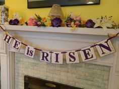He is risen banner for easter