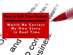 Need specific advice on how to edit fiction? Watch me edit my fiction in real time. Featuring twelve lessons all writers can learn from.