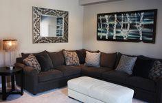 Custom affordable living room art