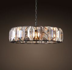 "Harlow Crystal 43"" Chandelier - Grey Iron $4995 SPECIAL $4250"