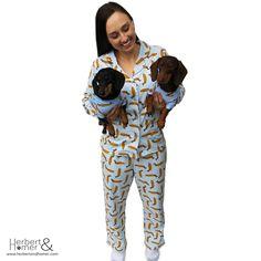 Herbert and Homer Pyjamas | If you've ever wanted you and your fur baby to have matching pyjamas, now you can. #pyjamas #dogpyjamas #furbaby