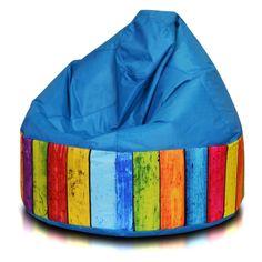 Turbo Beanbags Cake Modern Large Bean Bag Chair - Blue Stripe - CKE.NC.060300.01