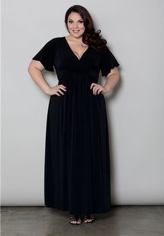 Classic Maxi Dress $69.90 by SWAK Designs #swakdesigns #PlusSize #Curvy