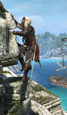 Assassins Creed Black Flag, Assassins Creed Game, Assassin's Creed Edward Kenway, Rogue Assassin, Edwards Kenway, Pirate Art, Jackdaw, Free Soul, Elder Scrolls