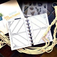 I am officially hooked on macrame plant hangers. Have you ever made one? They are a super easy and satisfying project. Bullet Journal Themes, Bullet Journal Spread, Bullet Journal Inspiration, Journal Ideas, Macrame Plant Hangers, Journal Paper, Have You Ever, Super Easy, Paper Art