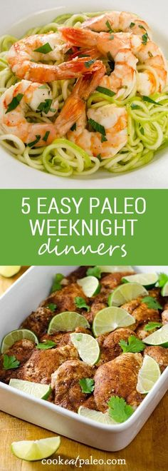 Easy paleo weeknight dinners for when you need to get supper on the table. These go-to recipes make eating paleo every day easier. {gluten-free, grain-free, paleo} ~ http:// Easy Paleo Dinner Recipes, Healthy Diet Recipes, Whole Food Recipes, Paleo Food, Free Recipes, Egg Recipes, Family Recipes, Easy Paleo Breakfast, Pasta Recipes
