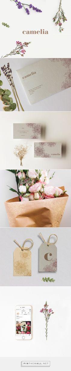 Camelia Flower Shop Branding by Barbara Montemayor | Fivestar Branding Agency – Design and Branding Agency & Curated Inspiration Gallery #floristbranding #florist #branding #brand #design #designinspiration