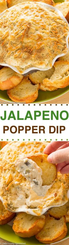 Jalapeno Popper Dip- easy appetizer recipe that everyone will love.