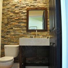 Bathrooms on pinterest travertine shower niche and for Stacked stone bathroom ideas