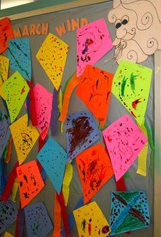 kite craft and bulletin board