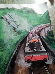 Hogwarts express...  My artwork with watercolors, hope you like it