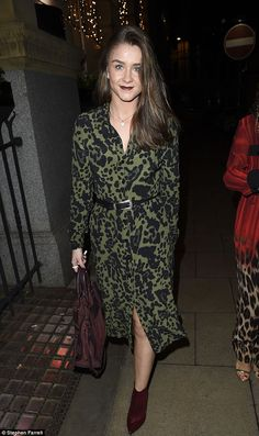 Parred down: Brooke Vincent cut a more sophisticated figure as she stepped out for dinner ...