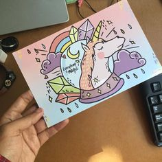Who wouldn't like to receive a beautiful unicorn postcard?! Magic is everything / Everything is magic (Pix by Eny Roland Hernández Javier)