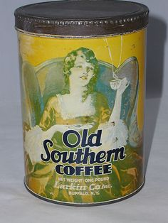 Vintage Old Southern Coffee Tin Can with Original Lid 721 S | eBay