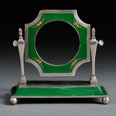 Victorian Silver and Guilloche Enamel Frame   Sale Number 2645B, Lot Number 36   Skinner Auctioneers