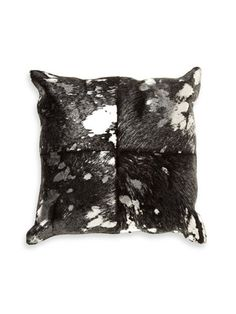 Metallic Hair-On Hide Pillow by Marlo Lorenz on Gilt Home