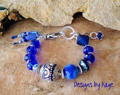 Boho Jewelry Cobalt Blue Boho Indie Bracelet by BohoStyleMe