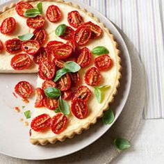 Slow-roasted tomato and parmesan tart - Sainsbury's Magazine.